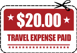 sell your car for cash, $20 travel expense paid